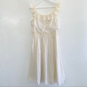 J Crew Boho Sleeveless Dress ruffle